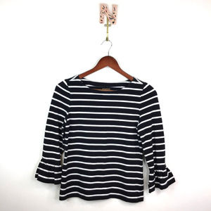 Kate Spade Broome Street Striped Bell Sleeve Top